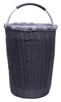 Wäschekorb Kunststoff-Geflecht mit Aluminiumhenkel