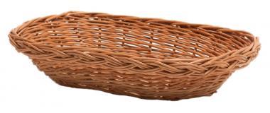 Brotkorb rechteckig gesottene Vollweide 30cm