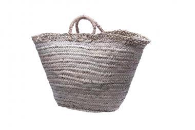 Original Marokko-Tasche Palmblattgeflecht natur mit geflochtenem Seegrasrand