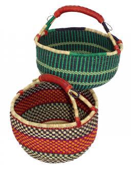 Original Ghana-Korbtasche rund d ca. 40cmT