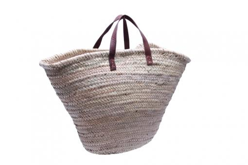 Original Marokko-Tasche Palmblattgeflecht natur