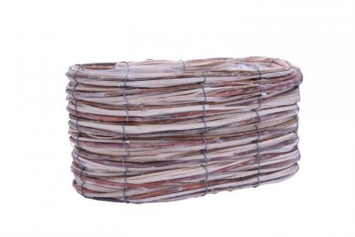 REDUZIERT Pflanzkorb oval aus Span-Rindengeflecht natur 26cm