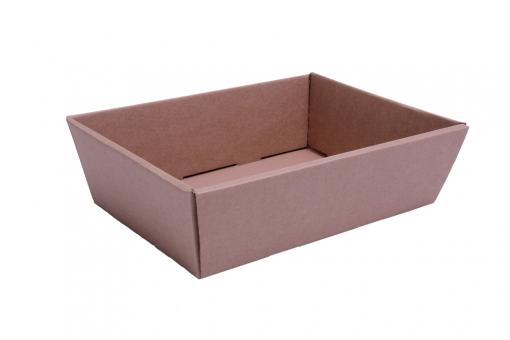 Verpackungsschale aus Karton Braun 40x30x11,5 cm