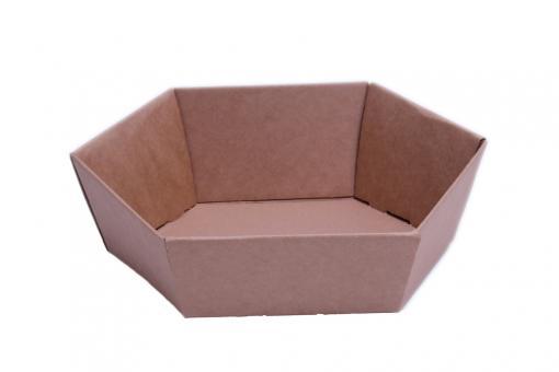 Verpackungsschale aus Karton Braun 29x23x8,5 cm