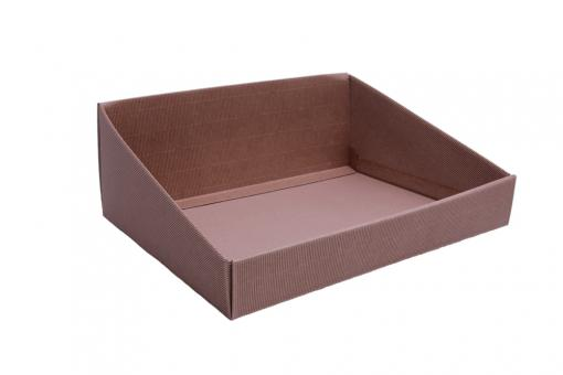 Verpackungsschale aus Karton Braun 40x32x15 cm
