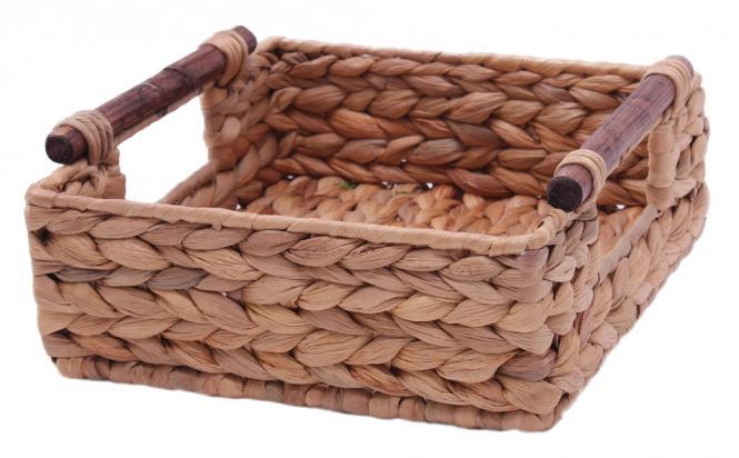 korb wasserhyazinth ablagekorb quadratisch 22cm online kaufen. Black Bedroom Furniture Sets. Home Design Ideas