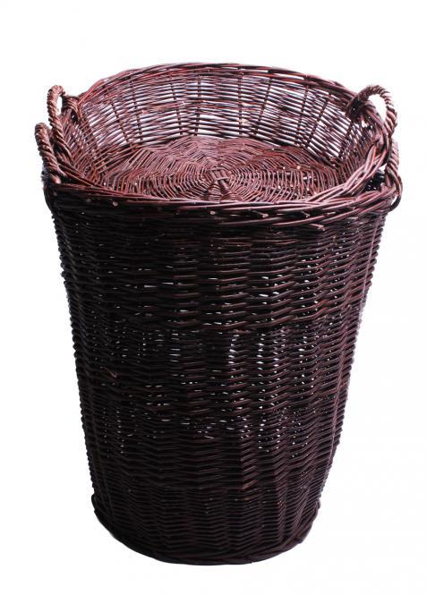 Verkaufskorb mit Korbschale dunkel 70cm