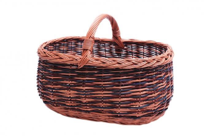 Einkaufskorb Vollweide mit farbigen Streifen