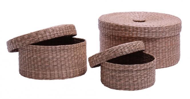 korb korbbox seegrasgeflecht rund 3er set online kaufen. Black Bedroom Furniture Sets. Home Design Ideas