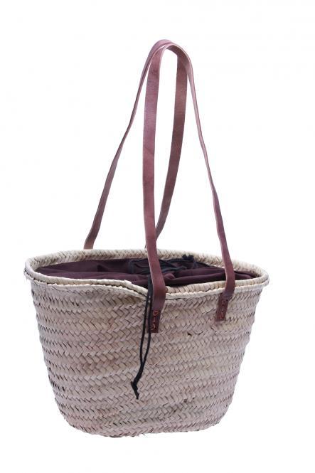 Original Marokko-Umhängetasche Palmblattgeflecht natur