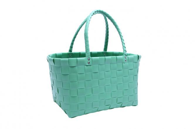 Korbtasche Kunststoffgeflecht hellgrün