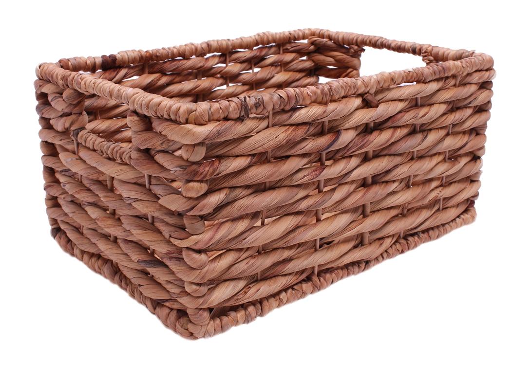 korb ablagekorb eckig aus wasserhyazinthgeflecht 35cm online kaufen. Black Bedroom Furniture Sets. Home Design Ideas