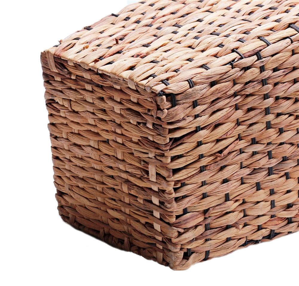 korb korbvase quadratisch aus wasserhyazinthe 20cm online kaufen. Black Bedroom Furniture Sets. Home Design Ideas